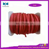 flat red braided nylon non-elastic cord