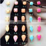 Western popular colorful gemstone nail art product
