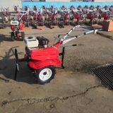 Small Hand Tractor Greenhouses & Orchards Small Garden Tiller Color Red