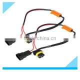Rohs approved 9005 9006 male female connector DRL Auto Car Fog Light Wiring Harness with Resistor