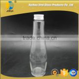 300ml glass soft drinking bottle with aluminum cap/ beverage bottle