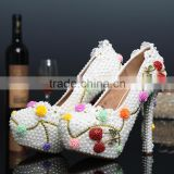 C71590A Party Wear High Heels Genuine Leather Women Bridal Wedding Shoes Beautiful Latest Design Lady Shoes Evening Shoe