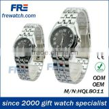 silver alloy watches with black surface for loves wholesales watches direct sell from factory
