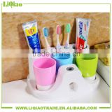 Plastic family colorful toothbrush cups suit
