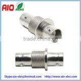 Straight copper pin BNC female to female coupler Bulkhead adaptor to Change the Connector Type