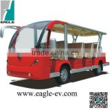 14 seats Electric Shuttle Bus used as electric tourist trains bus electric 4x4 with CE Certificate