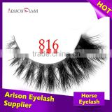 hot sale! 100% real siberian mink fur strip eyelash and horse fur lash goods quality with private label eyelash packaging