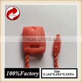 quality string seal tag, hang tag string, garment plastic seal tag/ red string seal tea bag string