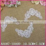 Factory Cheap 10.5*7.5cm Water Suloble Floral Nylon Small U shape collar motif