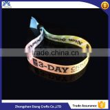 Popular cheap custom printed satin wristbands,custom cloth wristband,custom thin wristbands