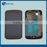 china supplier LCD display and touch assembly for LG Nexus 4 E960 black