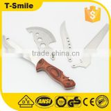 Wood handle hot multi knife with ax