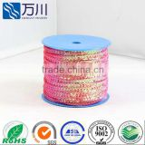 Most popular Christmas omament spangle sequin colour bar various colors available PVC sequin strip roll wholesale