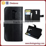 China supplier leather flip leather case cover for lg g2 d802