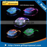 2.4G Wireless Laptop Mouse Silent Gamer Transparent LED Ultra-thin 1000DPI Glow Gaming Mouse Mice for Notebook Desktop Computer