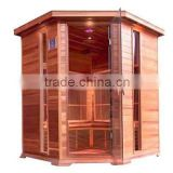 5 person infrared sauna, corner infrared saun room CE ROHS ETL Approved