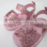 Elegant PU leather baby sandals summer new style baby moccasins glitter baby sandal shoes