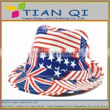 the union jack colorful bucket hat with the high quality caps 100% cotton childern's fishing bucket cap