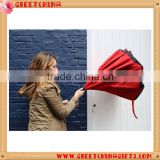 23 inch double layer C handle inverted umbrella, reverse umbrella, car umbrella