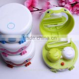 self-cleaning contact lens case/contact lenses case