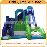 2016 inflatable slide with jump air bag for kids