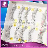 Hand tied transparent strip eyelash invisible band hand tied fake eyelashes manufacturer/factory