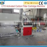 2015 Fully automatic activated carbon block filter cartridge machine for homeuse water treatment