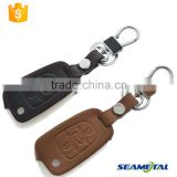 Car Leather Key Cover Case 3 button Fold For Hyundai I30 Solaris Verna Accent Tucson
