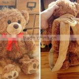 promotion teddy bear backpack for kids / plush teddy bear bag gifts / Customized teddy bear school bag plush toy