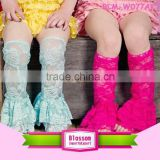 Children sock knitting boot leg warmers baby girl crochet knit lace button leg warmer                                                                         Quality Choice