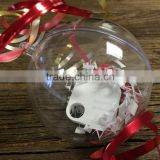 Christmas Decoration Supplies Type and Outdoor Christmas Decoration Christmas Clear Plastic Ball Container