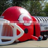 new design inflatable football helmet tunnel /inflatable sports tunnel