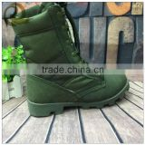 Hot sale low price used army green military boots and shoes for man with zipper
