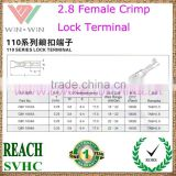 2.8 Brass Continuous Female Crimp Lock Terminal