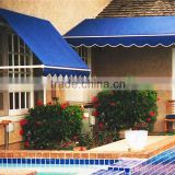 7 years guarantee durable retractable awning for terraces with wind-sun sensor optional