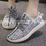 2016 fashion yeezy flyknit running shoes lace-up sport shoes casual shoes