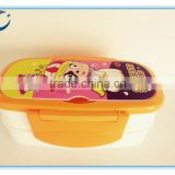 Wholesale fashional cartoon lunch box two layers of plastic lunch box food storage box bento lunch box with dividers