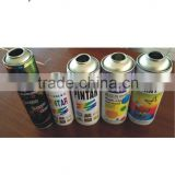 High quality empty aerosol tin can for fast dry acrylic spray paint with 4/6 color printing