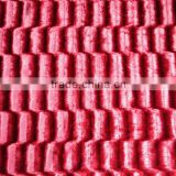 embossed super shine plush fabric