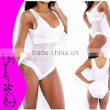 omen Swimwear One Piece Swimsuit Beachwear Deep V-Neck Backless Patchwork Bandage Swimwear White color Cheap price