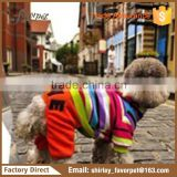 dog clothes with four legs , cute plush dog clothes with hat , knitted pet apparel dog clothes