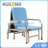 Comfortable Steel Frame Fold Up Accompanying Chair Bed