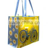 Bicycle Reusable Shopping Tote Bag with Long Handle