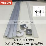 china top aluminium profile manufacturers,triangle corner led aluminum extrusion profile for cabinetry
