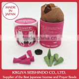 Nippon Kodo, Cafe Time Japanese Incense, Sakura and Green Tea, cone incense, incense stand included, 10 pieces(5 pieces of each)