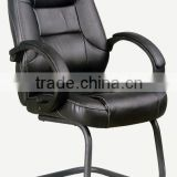 HC-A095 black leather office conference hall chair with armrest