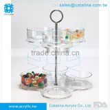 Taiwan Manufacturer High Quality Acrylic Banquet Serving Tray