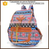 Stock Whosale Factory Direct Canvas Drawstring Cover Bohemian Style Printing Vintage Rucksack