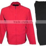 custom plain cotton/polyester fleece men's track suit