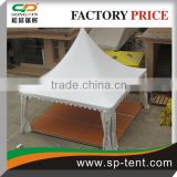 promotional pagoda tent 6m by 6m for event Chinese hat marquees garden tent with wooden floor system